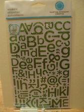 Martha Stewart Peridoto Brillo Alfabeto Pegatinas BNIP * Para ver *