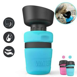 lesotc Portable Dog Water Botttle Leak Proof Outdoor Eco-Friendly Silicone Cup