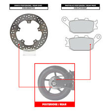 BREMBO REAR DISC (+ BRAKE PADS) - YAMAHA FZ-8 800 (10-13) - 68B407C2