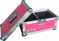 "7"" Single 200 Swan Flight Case Vinyl Record Box (Pink Rigid PVC)"
