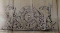 Zeichnung Entwurf - Eugen Ehrenböck - München 1941 Uhr Sternzeichen Figuren Uhr