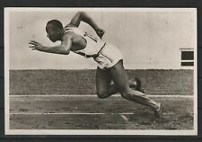 Olympische Spiele 1936, Postkarte Jesse Owens, gelaufen