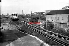 PHOTO  1977 ELECTRIC TRAIN AT SANDHILLS SANDHILLS IS THE FIRST STATION OUT OF LI