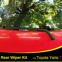Rear Windshield Wiper Blade Arm Set For Toyota Yaris 1999 2000 2001 2002 2003 04