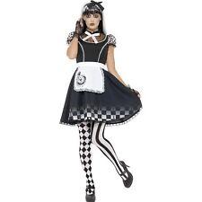 Black Gothic Alice Halloween Wonderland Womens Ladies Fancy Dress Costume