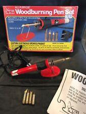 Nos Nsi All Purpose Woodburning Pen Set Box 4 Tips in Original Box - Euc