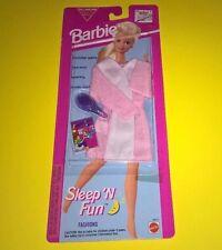 1993  Barbie Sleep 'n Fun Sleeping Fashion New Outfit MOC Brush Accessory Pink