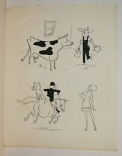 Cow Farmer and Fox Hunter Gags art by George Papp Comic Art