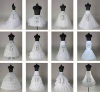 New 12 Styles White Bridal Crinoline Wedding Dress Petticoat Underskirt Optional