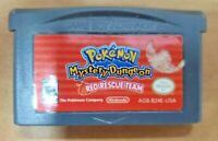 Pokemon Mystery Dungeon Red Rescue Team Nintendo Game Boy Advance GBA Authentic