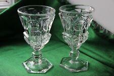 2 verres anciens en cristal moulé  LOUIS ZOUDE NAMUR 1830-1840 19e XIXe siècle