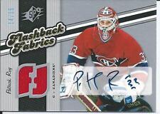 Patrick Roy 06/07 SPX Flashback Fabrics  Jersey-Autograph  Spectrum  /25