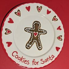 Gisela Graham 'Cookies For Santa' Ceramic Gingerbread Plate.