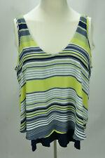 Heart soul plus women sleeveless striped blouse top size 3X