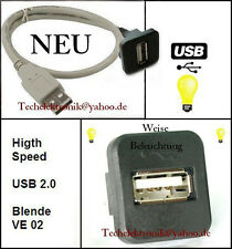 USB Einbaubuchse Schnittstelle BELEUCHTUNG 50cm passend für C180 C200 E200 SLK