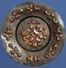 Vintage Hand Made copper wall decor plate