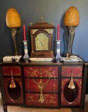 """New listing Pair Of Rare Antique Art Nouveau Sculpture Figure Table Lamps, Blown Globes 28""""T"""