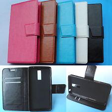 "Kogan Agora 6 Plus (5.5"")- Folder Flip Folio PU Leather Case cover 4G"
