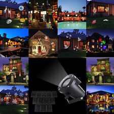 12 in 1 Patten Outdoor Christmas Landscape Moving Laser Projector LED Light Lamp