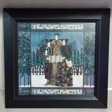 DEB STRAIN CAROLERS PICTURE FRAMED, SIGNED, NUMBERED, DATED WALL ART
