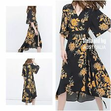 FLORAL KIMONO WRAP BOHO DRESS SIZE 12 AU WOMENS NEW