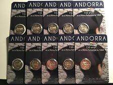 100 X 2 EURO ANDORRE 2016 150 ANS DECRET NOUVELLE REFORME 1866 COMMEMORATIVE
