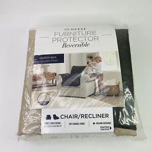 SUREFIT Chair/Recliner Furniture Protector Reversible Microfiber Chocolate/Taupe