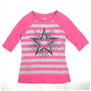 Canyon River Blues Girls Pink Sequined Star Top Size Large 14/16