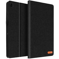 Funda Samsung Galaxy Tab A7 10.4 2020 de Tela Cartera y Soporte, Canvas - Negro
