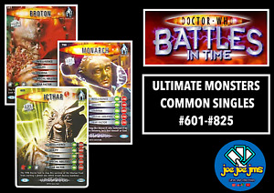 Dr Doctor Who Battles in Time Cards - ULTIMATE MONSTERS Common Singles