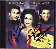 ALAGNA, HAMPSON Signed Our Christmas for You KANAWA CD Weihnachten der Opernstar