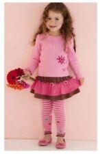 Luxury cute LE TOP Long Sleeve Shirt & Tiered pink Skirt girl's 2 set  5y 6y 6x