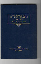 Very Nice 1964 Handbook of United States Coins - Blue Book - 21st Edition