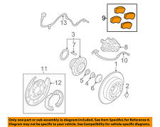 KIA OEM 06-12 Sedona Brake-Rear Pads 583024DU02