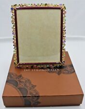 Jay Strongwater Theo Bejeweled Swarovski Crystal Frame 14K Gold Bouquet Finish