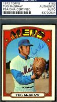Tug Mcgraw Vintage Signed Psa/dna Authenticated 1972 Topps Autograph