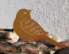 Rankstab Vogel Edelrost Rost Edelstahl Kugel Gartenstecker 95 cm 570321-2 Brille