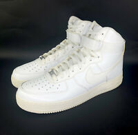 Nike Air Force 1 High Top All White Size 12 Mens ~ Great Condition ~ Classic