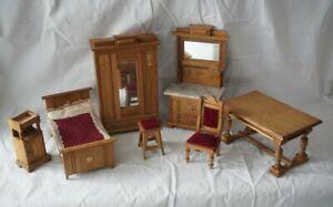 Alte Gründerzeitmöbel für die Puppenstube, Salon und Schlafzimmermöbel