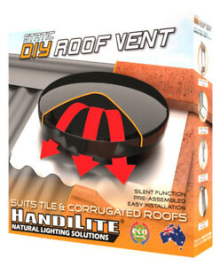 Roof Vent 300mm Static - Silent - Whirlybird Substitute - DIY - Assist Cooling