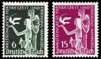 EBS Germany 1936 World Recreation Congress Michel 622-623 MNH**