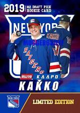 2019 KAAPO KAKKO ROOKIE GEMS 1ST EVER NHL #2 DRAFT PICK ROOKIE CARD N Y RANGERS.