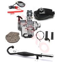 47cc 49cc 2 stroke Engine Motor Kit Exhaust Mini Pocket Dirt Bike ATV Scooter