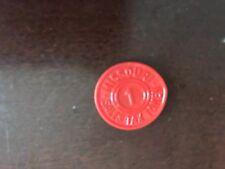 Missouri tax tokens Red plastic MO started use in 1932~USA SELLER~FREE FAST SHIP
