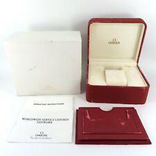 GENUINE OMEGA WATCH BOX RED & GOLD SEAMASTER SPEEDMASTER