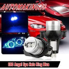 Pair Angel Eye LED Halo Ring Bulbs For BMW E90 2006-2008 323i 328i 330xi Blue US