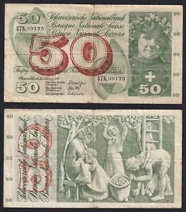 Switzerland/Suisse 50 Francs 1974 BB / VF C-09