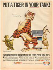 1964 Vintage ad for HUMBLE oil & refining Comp. Esso Tiger Art Turtle (020917)