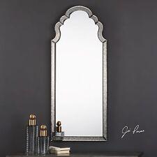 "Designer Xxl 62"" Arched Wall Mirror Hand Beveled Antiqued Mirror Frame Lunel"