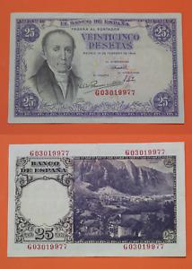 Spain Banknotes Of 25 Pesetas 1946 Florez Estrada,Series G,Conservation EBC